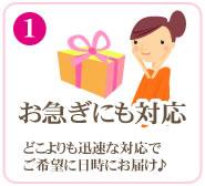 (1)お急ぎにも対応いたします!!